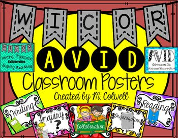 Avid kindergarten clipart children image library FREE AVID & WICOR Classroom Posters!! These posters are great to ... image library