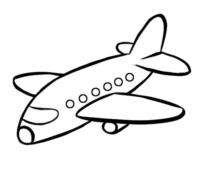 Avion clipart black and white banner freeuse download Avión de pasajeros: Dibujos para colorear | dibujos | Avion dibujos ... banner freeuse download