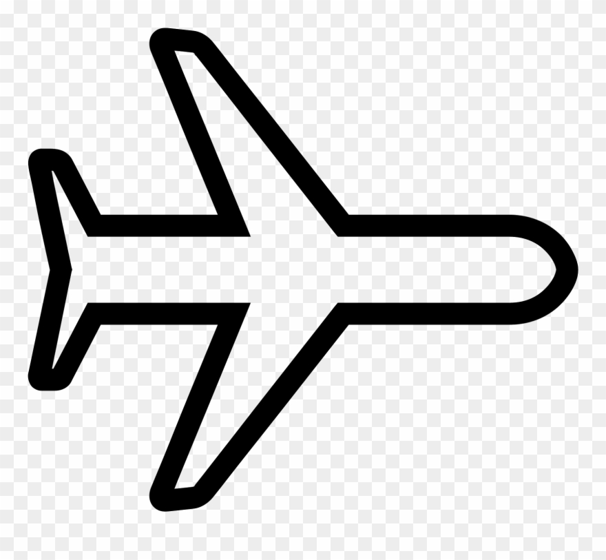 Avion clipart black and white svg free stock Svg Free Library Avion Vector - Airplane Icon White Clipart (#175408 ... svg free stock