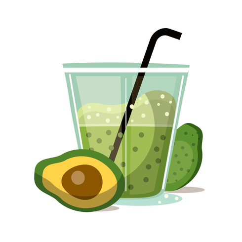 Avocado juice clipart png library stock Avocado Smoothie Vector - Download Free Vector Art, Stock Graphics ... png library stock