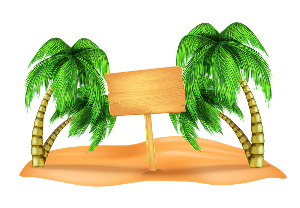 Beach palm tree clipart svg library library Beach Clip art - Coconut tree on the beach picture material 1000*694 ... svg library library