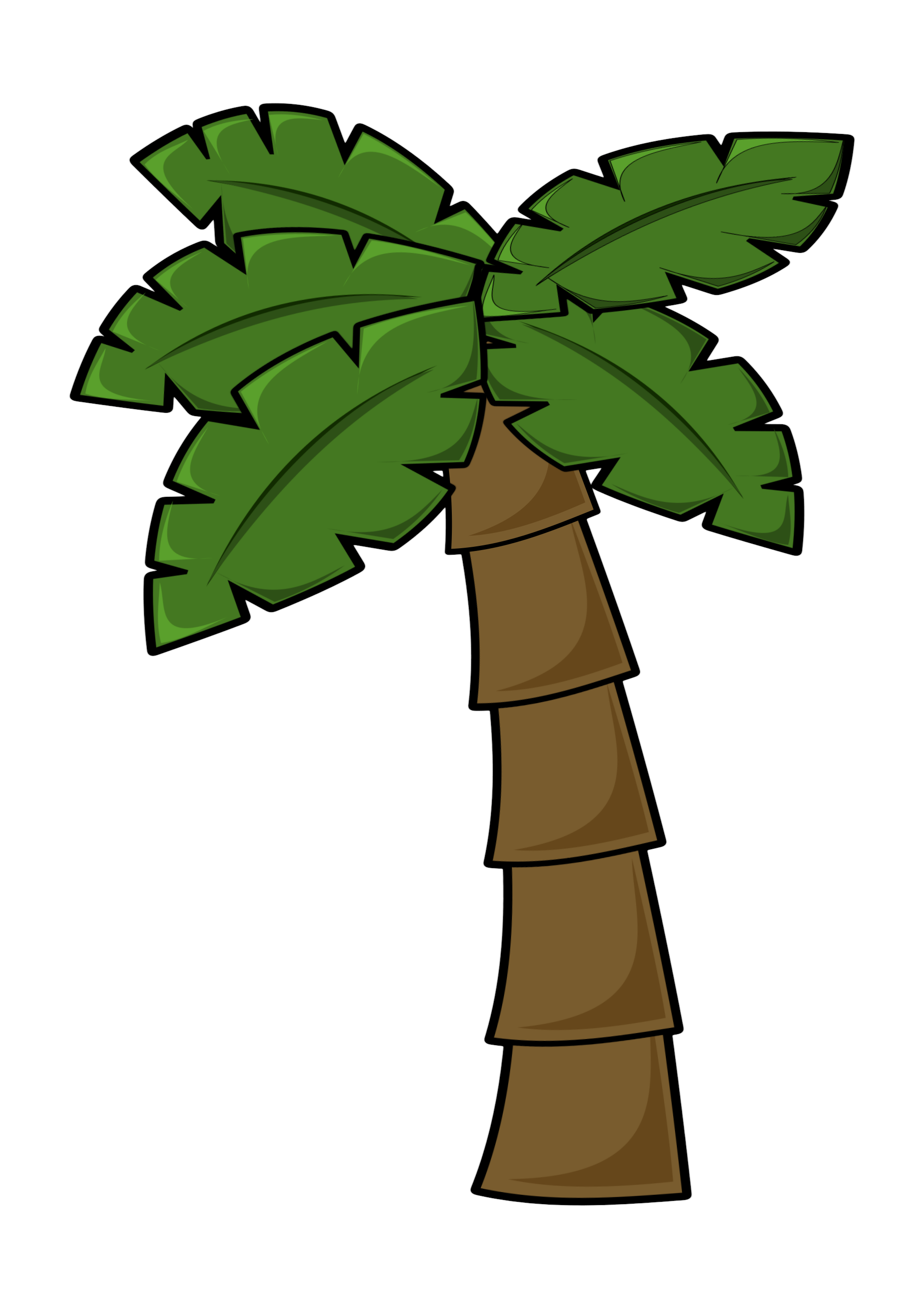 Free clipart palm tree with christmas lights svg free download Free Simple Cartoon Palm Tree Clipart Clipart PNG and Vector Image ... svg free download