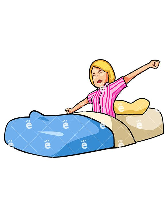 Awake in bed clipart free