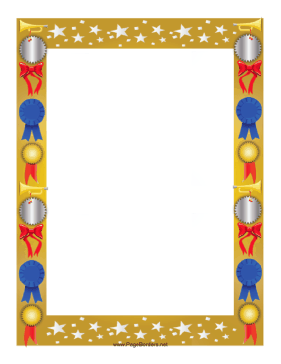 Award borders clipart jpg black and white download This colorful award border is decorated with stars and features ... jpg black and white download