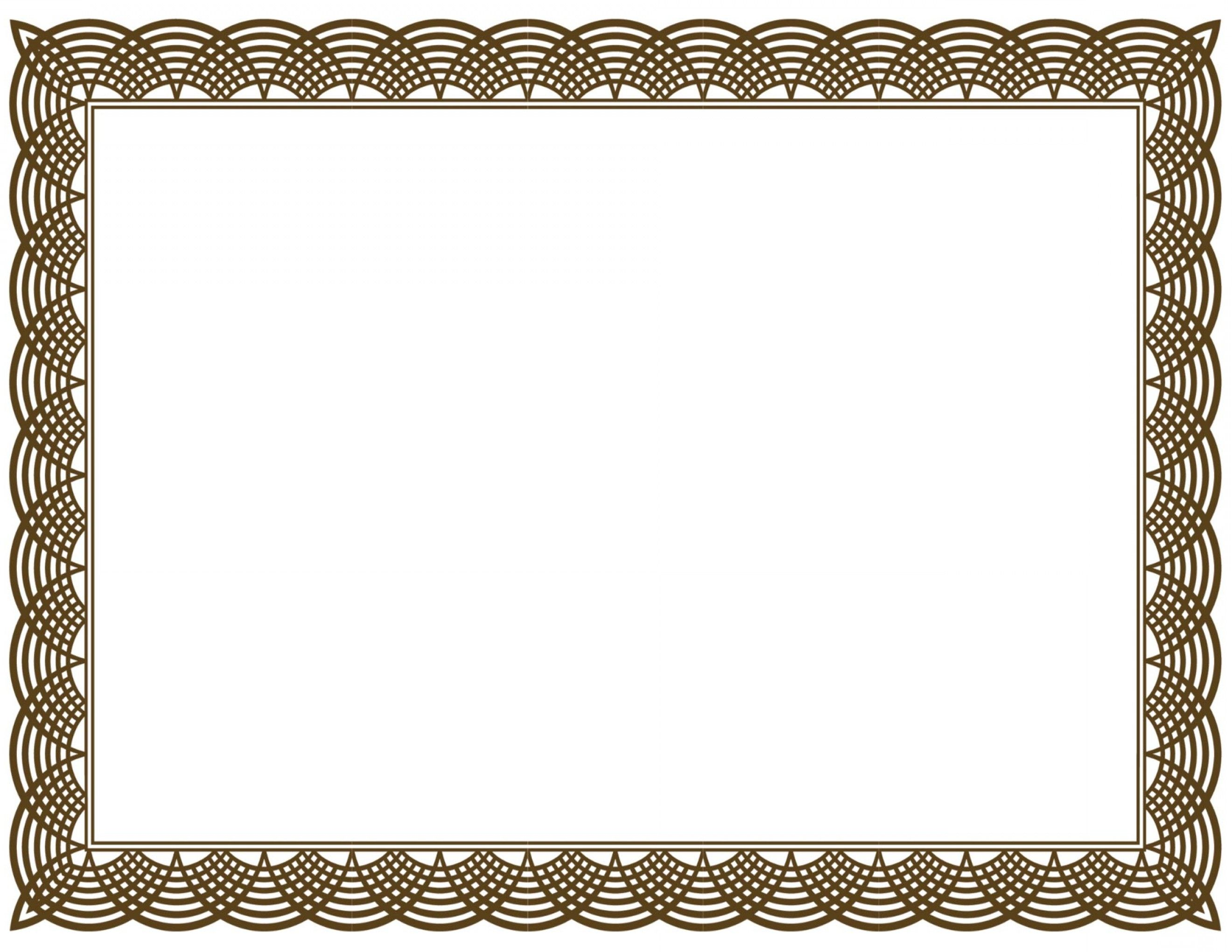 Vector certificate border clip. Free clipart for certificates