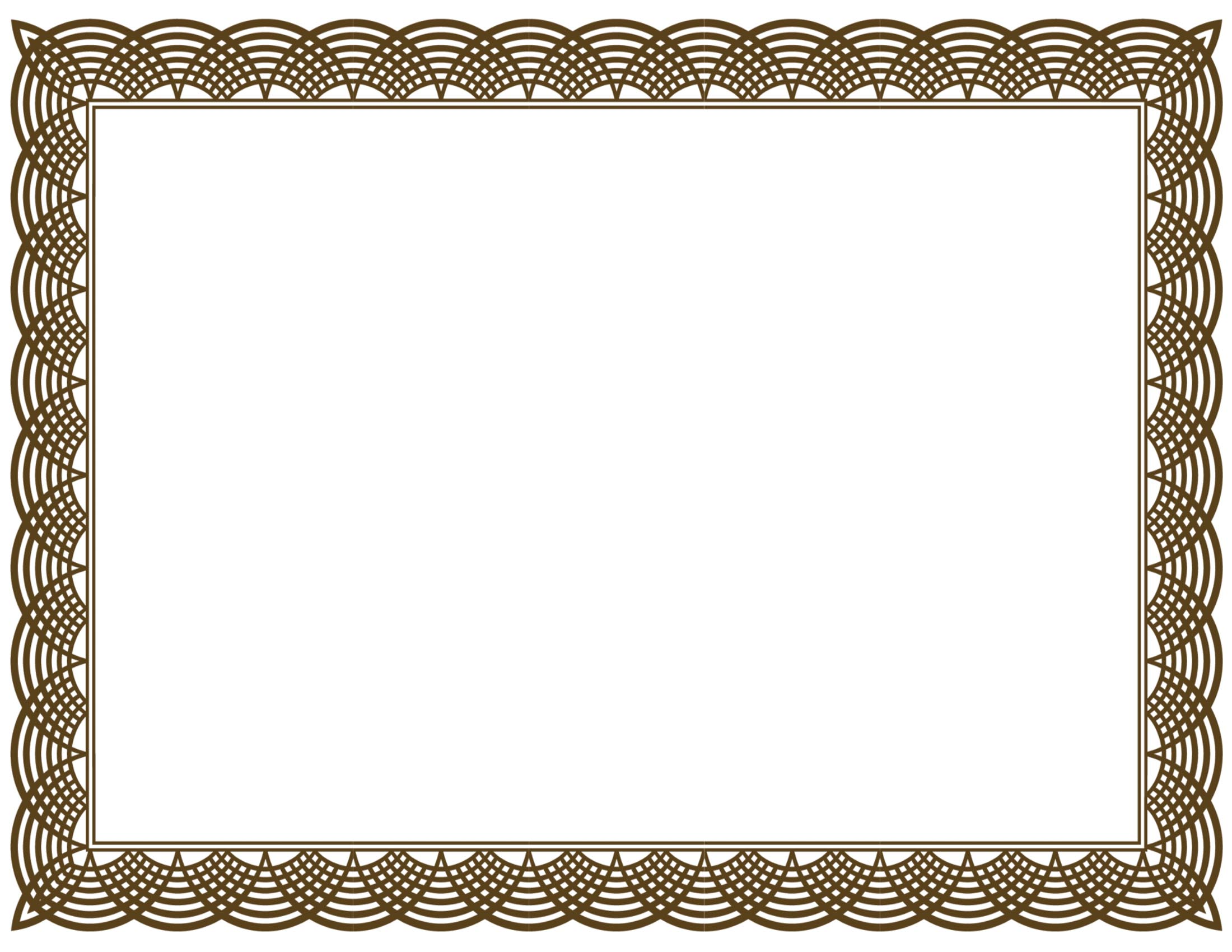 Free Certificate Border, Download Free Clip Art, Free Clip Art on ... png library stock