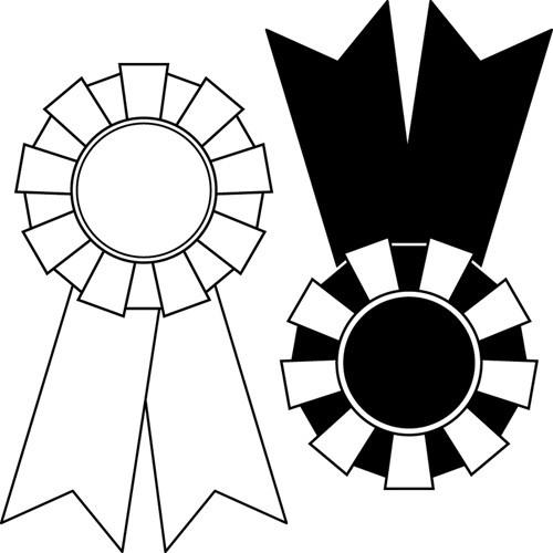Award ribbon clipart black and white svg freeuse stock Award ribbon clipart black and white 3 » Clipart Station svg freeuse stock