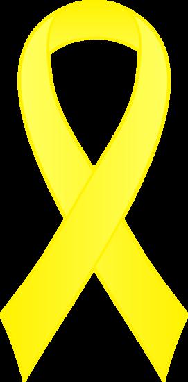Awareness ribbon clip art svg free Yellow Awareness Ribbon Clipart - Free Clip Art svg free