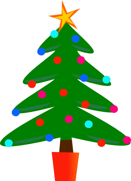 Tiny christmas tree clipart simple