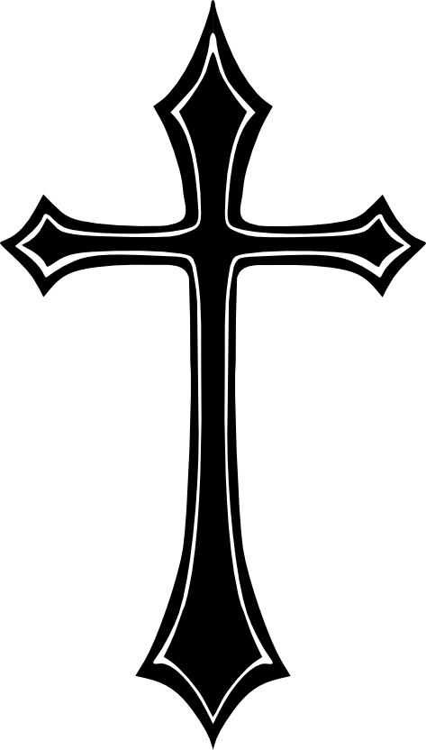 Cross picture clipart black and white clip transparent library Gothic Cross by VashKranfeld on DeviantArt clip transparent library