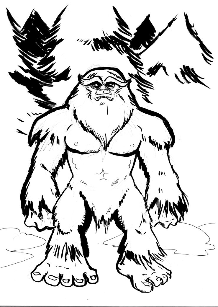 Awsome bigfoot clipart png royalty free download cartoon pics of bigfoot | Sasquatch Drawing Sasquatch | Photos ... png royalty free download