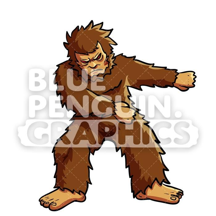 Awsome bigfoot clipart jpg transparent download Bigfoot Floss Dance Vector Cartoon Clipart Illustration | Floss ... jpg transparent download