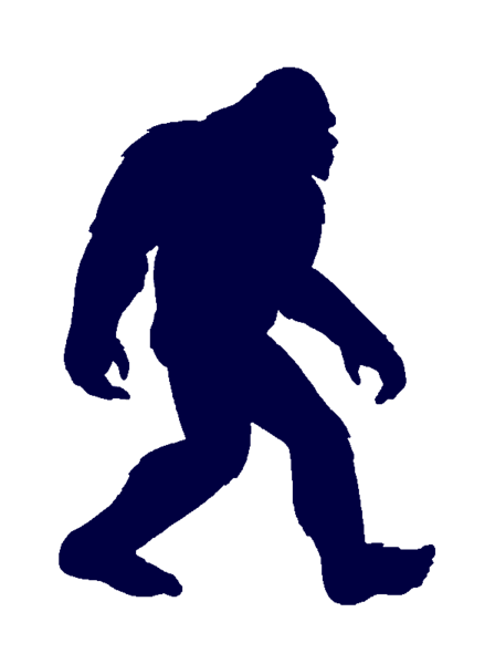 Awsome bigfoot clipart graphic black and white library Bigfoot Clip Art | BIG FOOT PATTERN | Bigfoot sasquatch, Bigfoot ... graphic black and white library