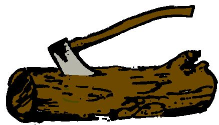 Ax and wood clipart picture stock Wood badge ax and log clipart – Gclipart.com picture stock