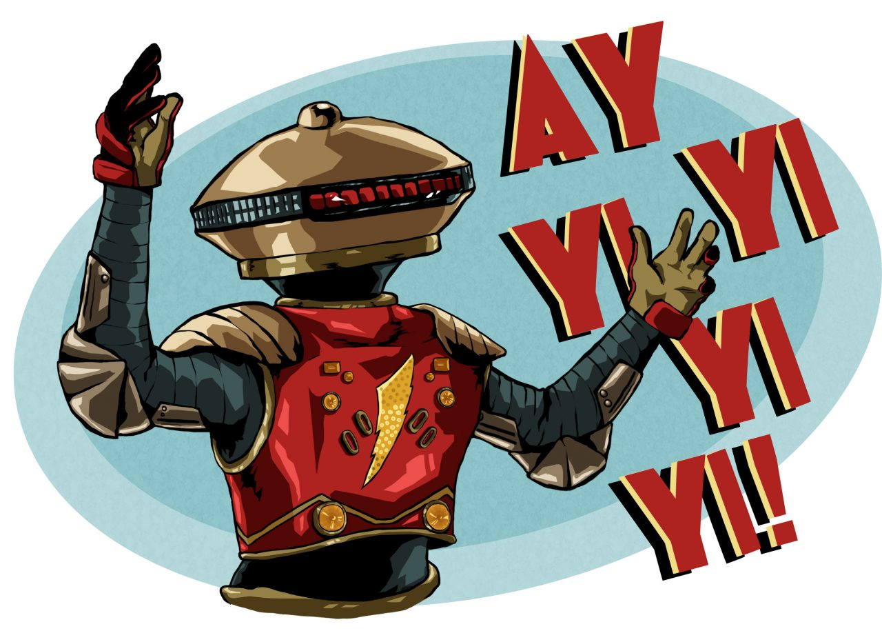 Ay yi yi clipart clip art royalty free library First look at Alpha 5 from the new Power Rangers film   Flickreel clip art royalty free library