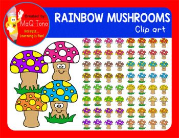 Ayer fue clipart vector library library Rainbow mushrooms clipart | Cliparts | Mushroom clipart, Clip art ... vector library library