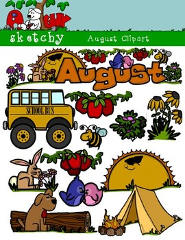 Ayer fue clipart vector freeuse library Month Headers Clipart Worksheets & Teaching Resources | TpT vector freeuse library