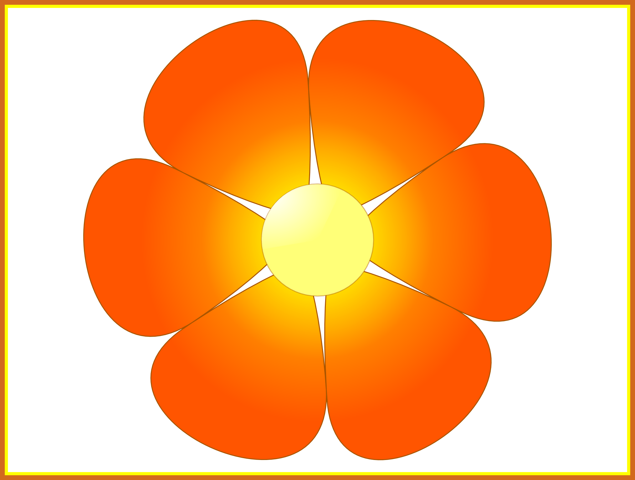 Flower clipart yellow library Shocking File Flower Pic Of Clipart Style And Border Trend Flower ... library
