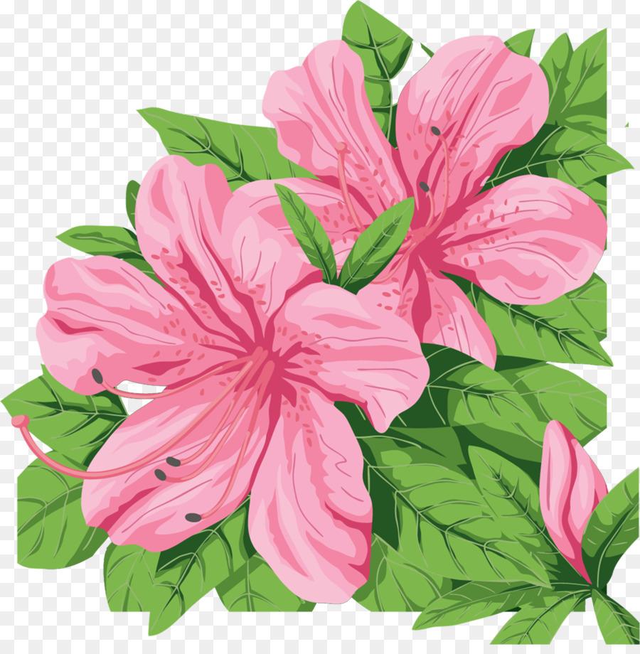 Azalea flowers clipart jpg royalty free download Pink Flower Cartoon png download - 1191*1200 - Free Transparent ... jpg royalty free download