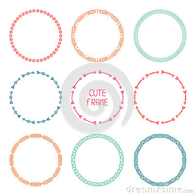 Aztec arrow circle clipart banner free download Set Of Hand Drawn Ethnic Arrows Frame. Doodles Stock Vector ... banner free download