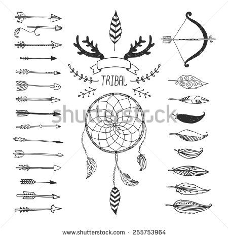 Aztec arrow circle clipart png transparent download Line feathers and arrows, abstract geometric elements, pattern ... png transparent download