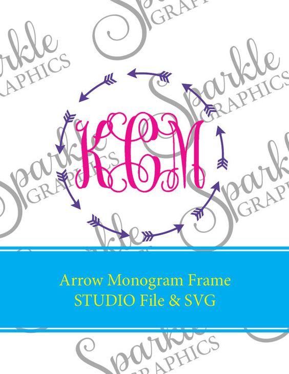 Aztec arrow circle clipart png free Arrow Circle Monogram Frame Cut File Arrow Monogram Arrow Frame ... png free
