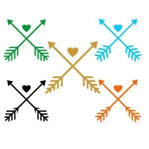 Aztec arrow circle clipart png freeuse download Wedding Love Aztec Cross Arrow with Heart Cuttable Design Cut File ... png freeuse download