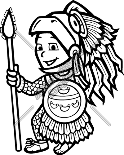 Aztec clipart number 1 image freeuse library Aztec clip art - ClipartFest image freeuse library
