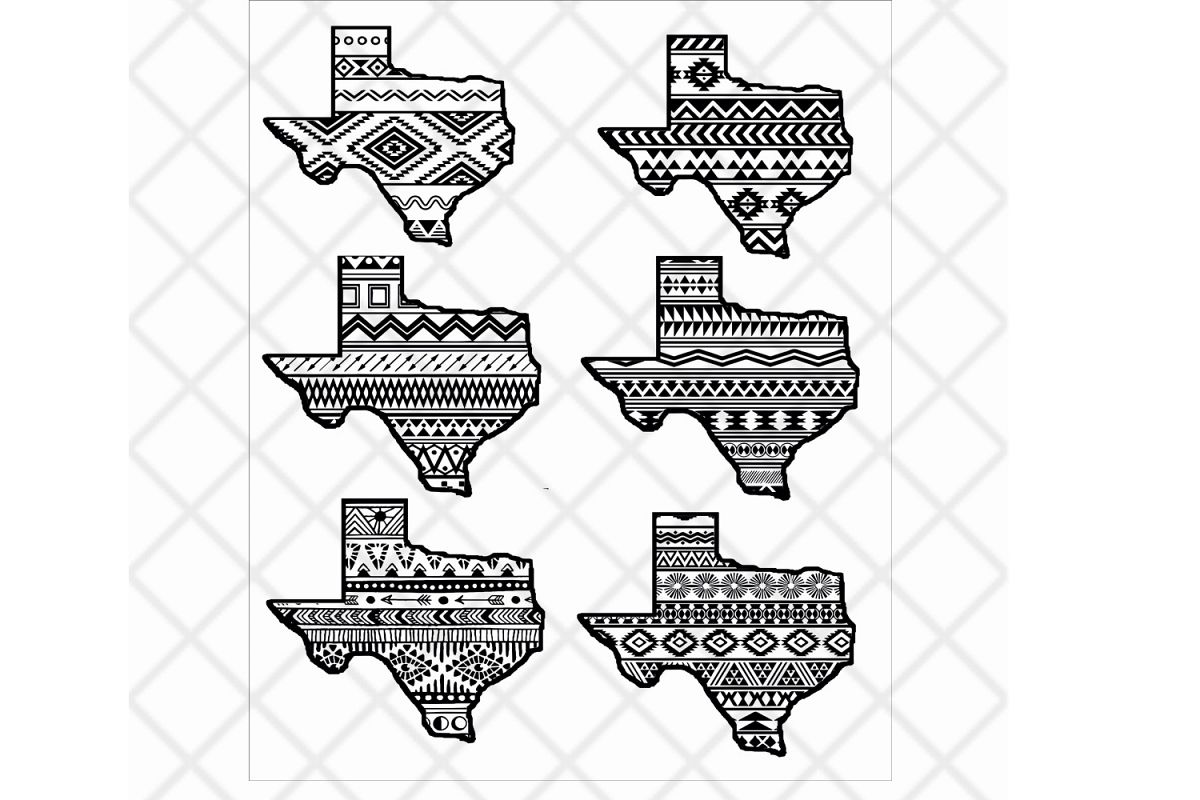 Aztec pattern clipart free library Texas state svg clipart vector Aztec pattern,State design free library