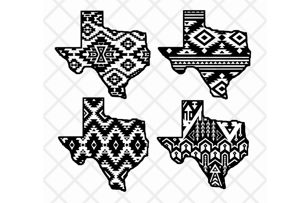 Aztec clipart tools clip art black and white stock Texas state svg clipart vector Aztec pattern,State design clip art black and white stock