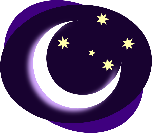 Free sun and moon clipart