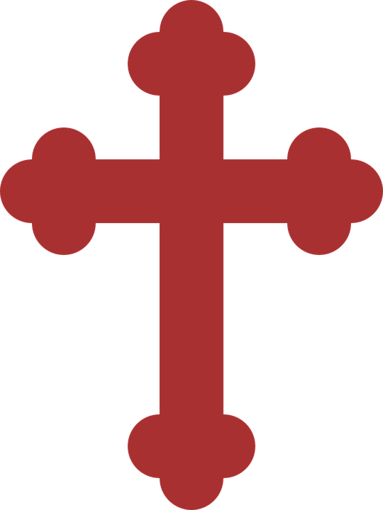 Crucifix cross clipart. Red graphics illustrations free