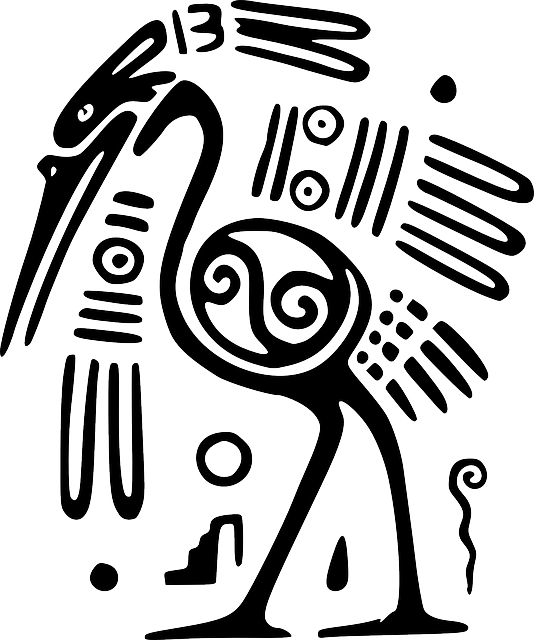 Aztec fish clipart png black and white download Image gratuite sur Pixabay - Autruche, Oiseau, Mexique, Inca ... png black and white download