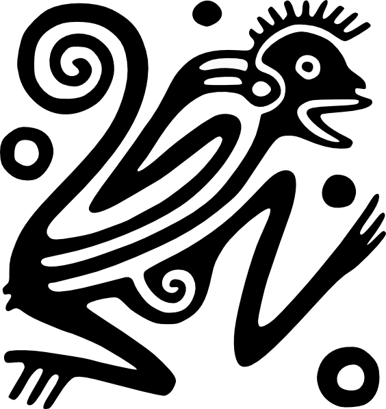 Aztec fish clipart vector royalty free library Ancient Mexico Motif 1 Clip Art at Clker.com - vector clip art ... vector royalty free library