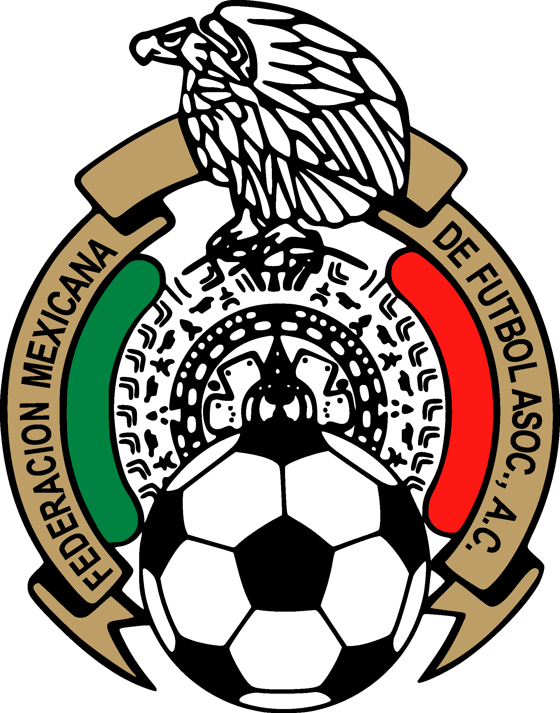 Modern football clipart clip freeuse download Mexican Football Federation & Mexico National Football Team Logo ... clip freeuse download