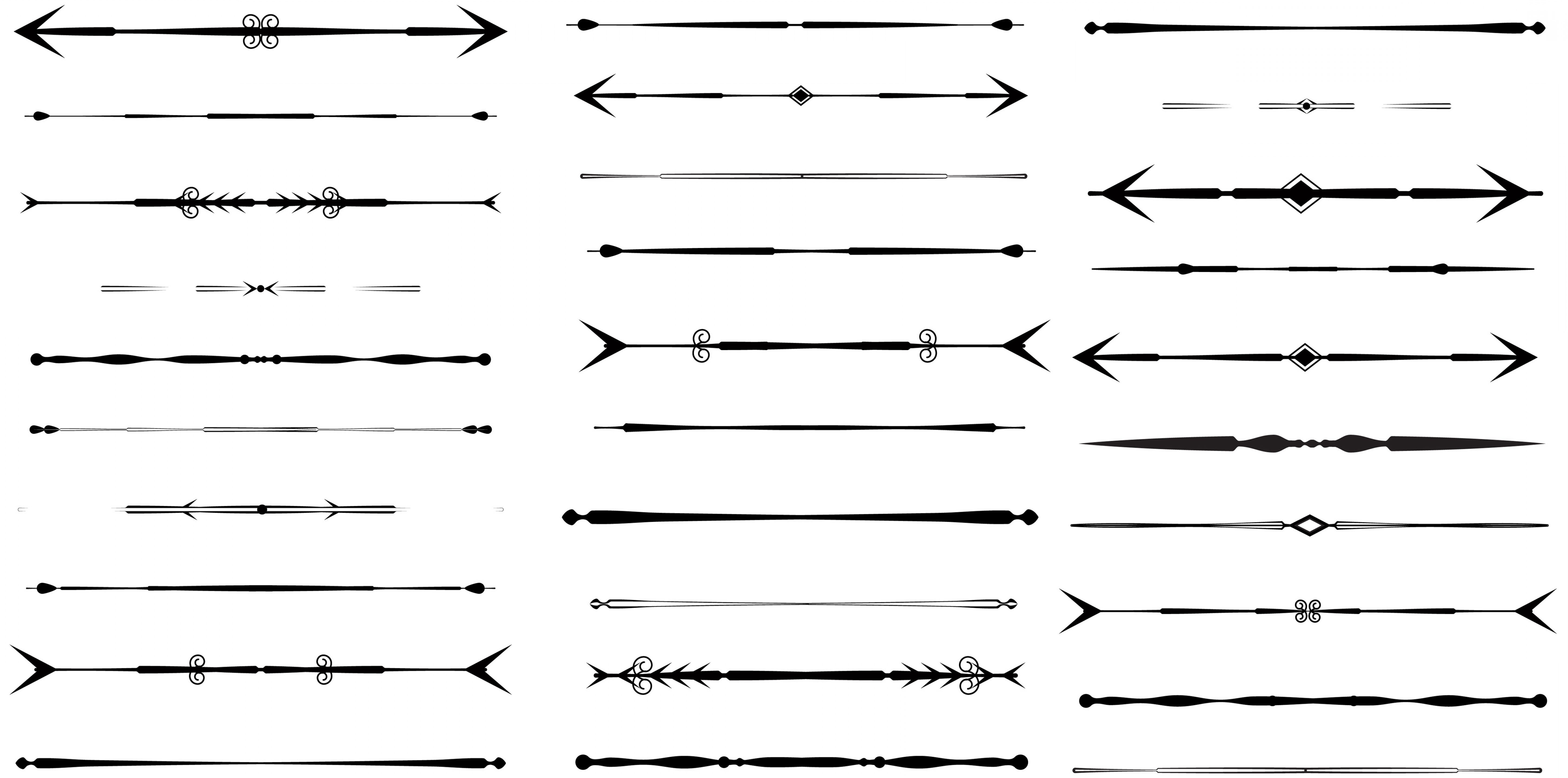 Aztec page divider clipart banner black and white download Free Arrow Divider Cliparts, Download Free Clip Art, Free Clip Art ... banner black and white download