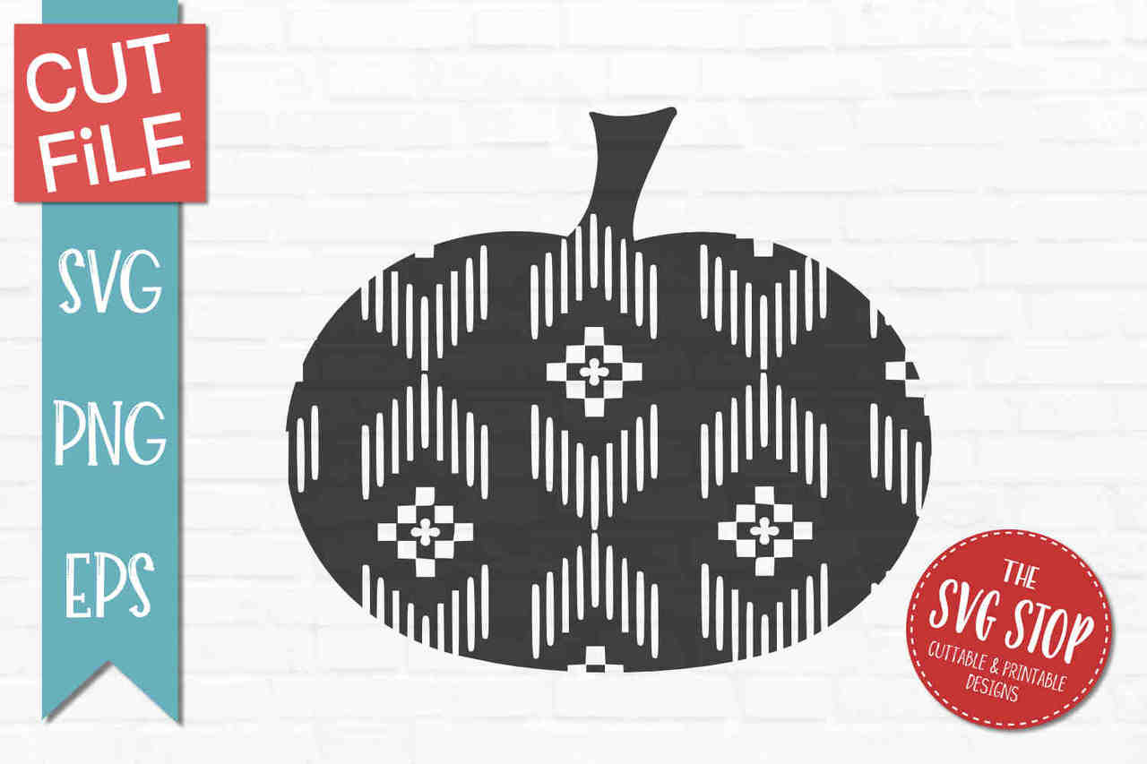 Aztec pattern clipart picture freeuse library Aztec Pattern Pumpkin - Cut File - SVG PNG EPS Formats - Clipart picture freeuse library