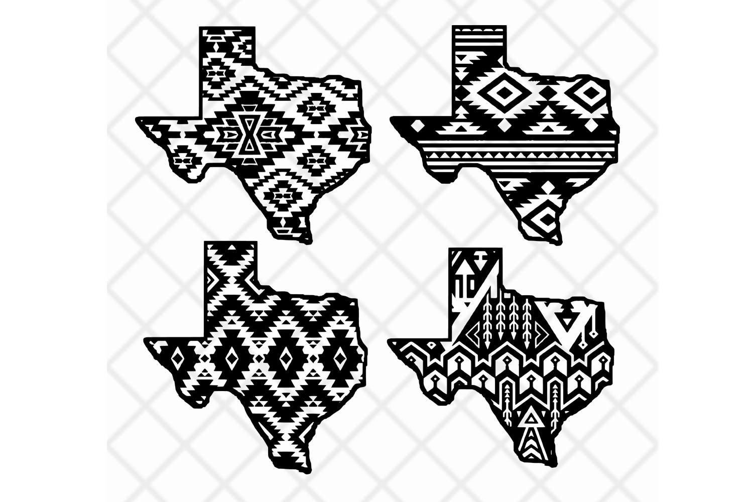 Pattern clipart images clip black and white library Texas state svg clipart vector Aztec pattern,State design clip black and white library