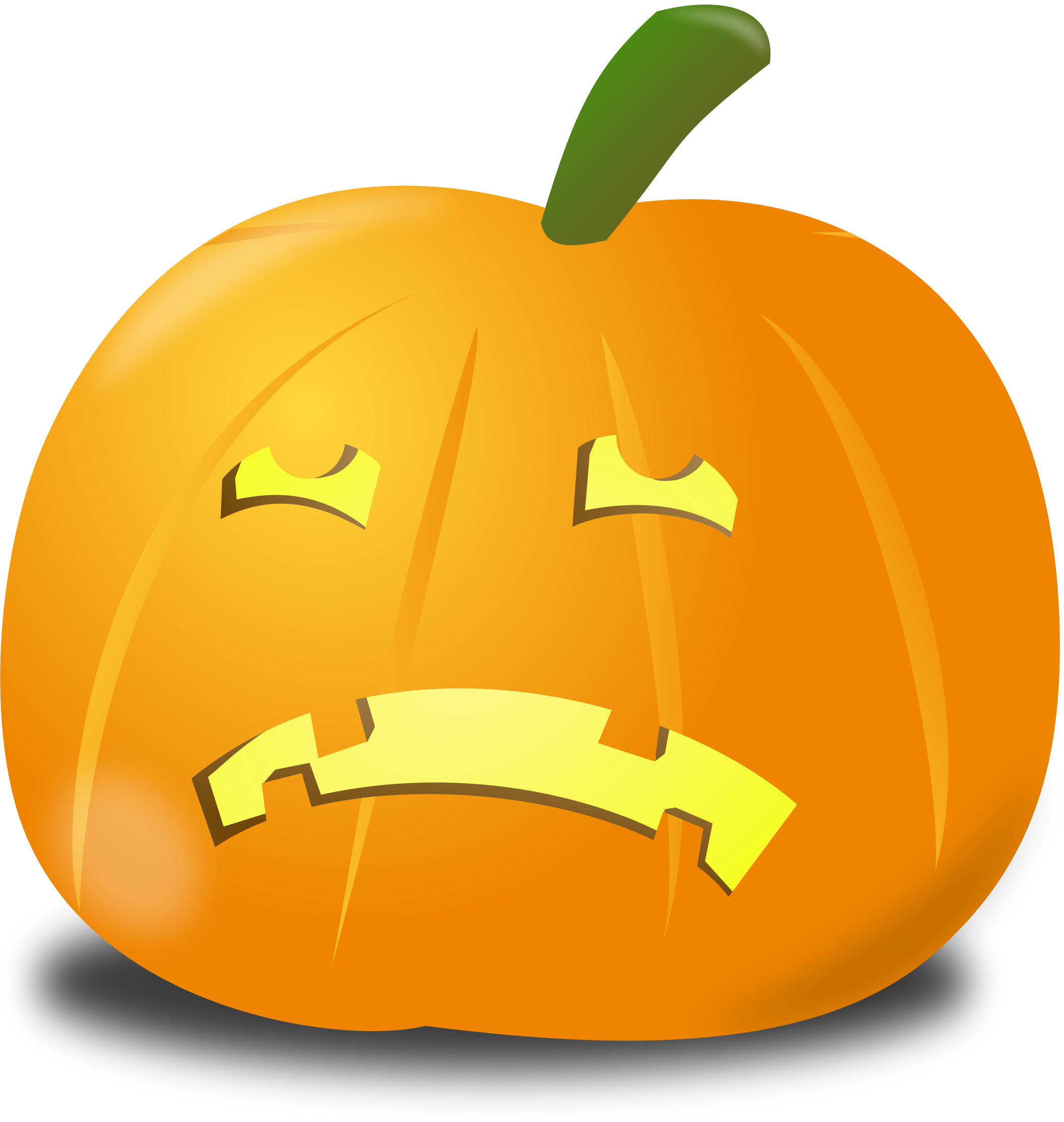 Scared pumpkin clipart clipart free download  clipart free download