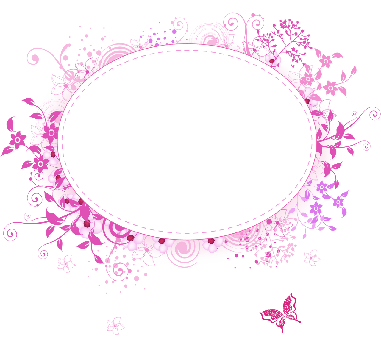 Aztec pumpkin monogram clipart clipart black and white pink border png | png frames category 460 views floral oval pink ... clipart black and white