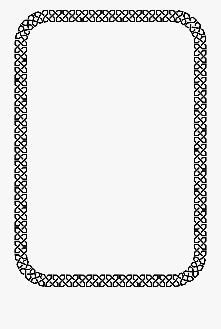 Aztec square border clipart black and white transparent Celtic Border Vector Free - Png Frame For Poster #759770 - Free ... transparent