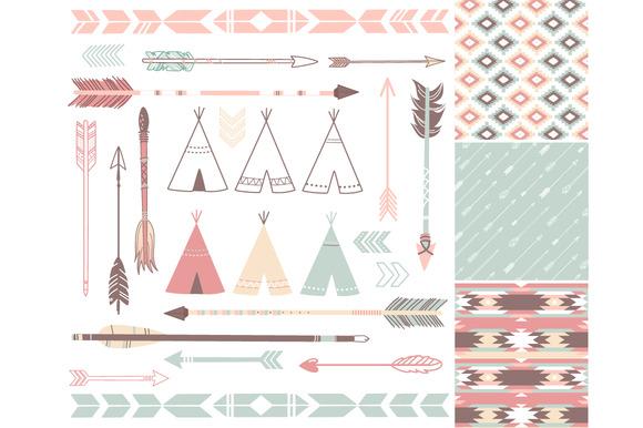 Aztec tribal arrow clipart vector library Tribal print arrow clipart - ClipartFest vector library