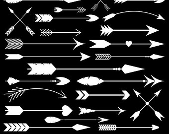 Aztec tribal arrow clipart jpg black and white library Aztec arrow clipart | Etsy jpg black and white library