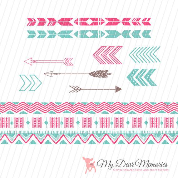 Aztec tribal arrow clipart clip art black and white download Arrows Clip Art Tribal Clip Art Tribal Pattern Aztec Clip clip art black and white download