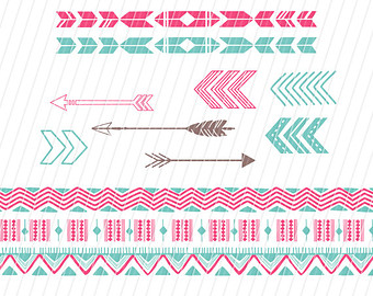 Aztec tribal arrow clipart jpg freeuse download Long aztec arrow clipart - ClipartFest jpg freeuse download