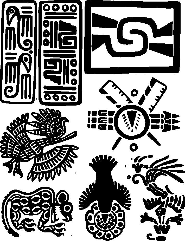 Aztec pattern clipart clip black and white stock grecas aztecas - Google Search | Danza | Arte azteca, Grecas y Arte clip black and white stock