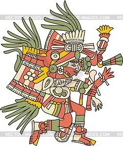 Aztecas clipart clip transparent stock Huehuecoyotl - Aztec god of music, dance and song - vector clipart ... clip transparent stock