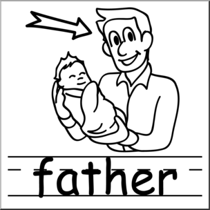 B ack dad clipart graphic freeuse library Father Clipart Black And White | Free download best Father Clipart ... graphic freeuse library