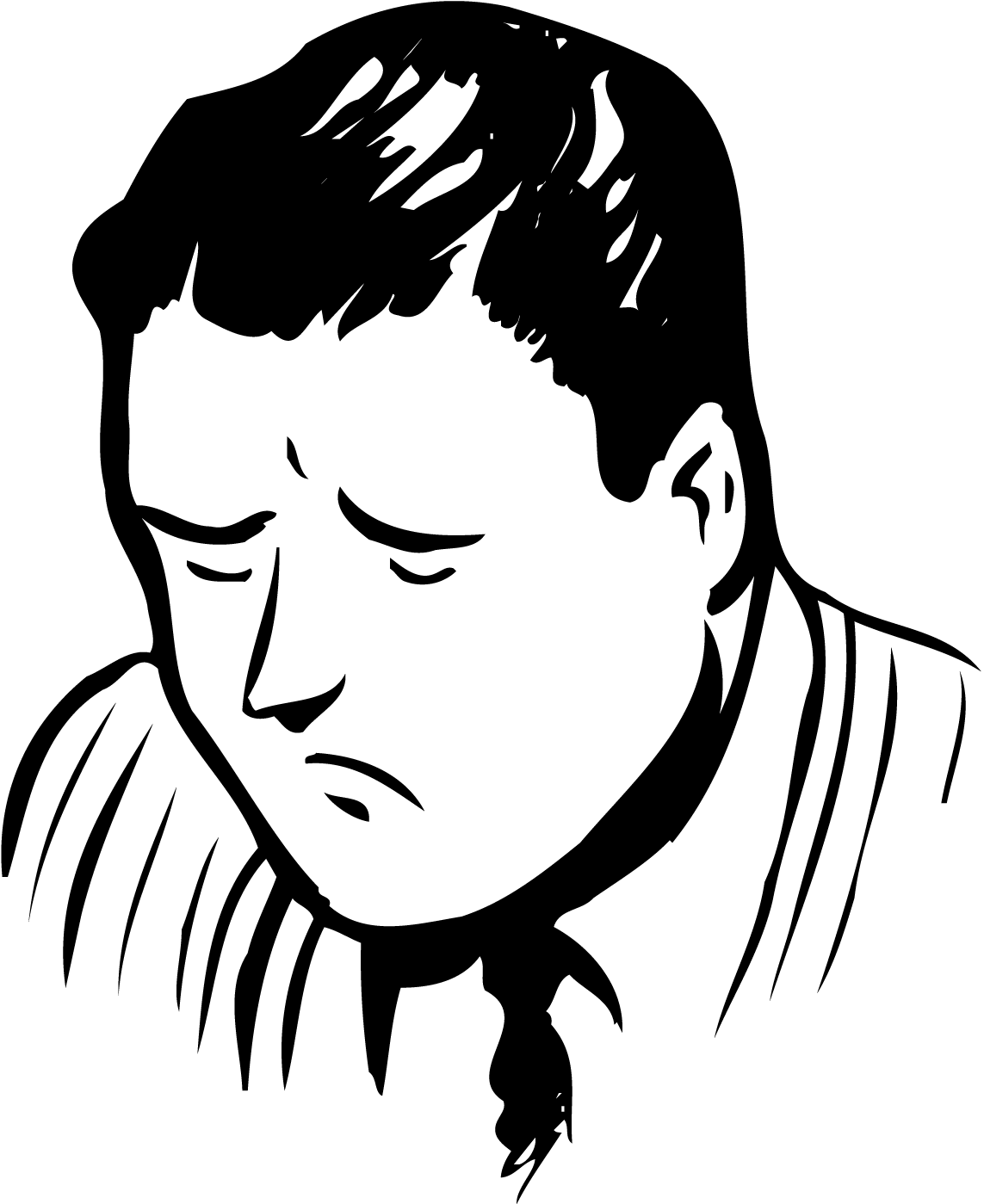 B ack dad clipart graphic transparent stock Man29 - Sad Dad Clipart Black And White - Png Download - Full Size ... graphic transparent stock
