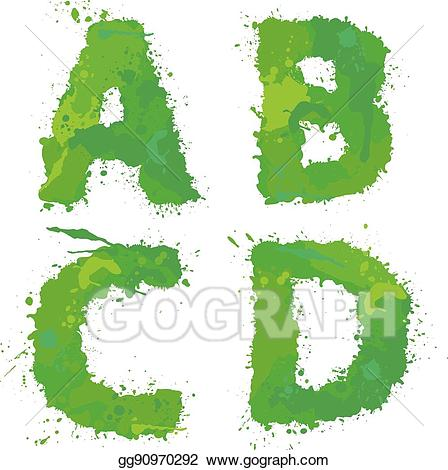 B and d clipart image Vector Illustration - A, b, c, d, handdrawn english alphabet ... image